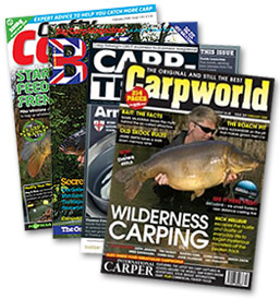 The first of our new 1/2 adverst were published in the December issues of Carpworld, Crafty Carper, Big Carp and Carp-Trade